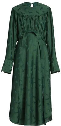 Stella McCartney Horse-Print Jacquard Midi Dress