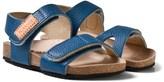Kavat Blue 2-Strap Leather Sandals