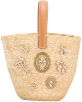 Ermanno Scervino straw basket tote - women - Leather/Straw - One Size
