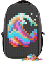 Upixel Classic Double Backpack - DIY Pixel Art - School Laptop Bag with Multi Pockets