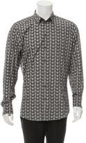 Dolce & Gabbana Owl Print Button-Up Shirt