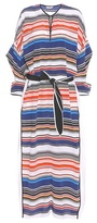 Edun Striped silk kaftan dress