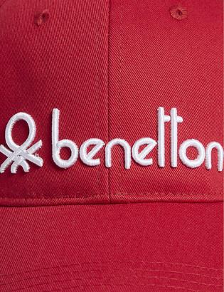 Benetton Unisex logo-embroidered cotton cap