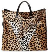 Clare Vivier Genuine Calf Hair Cheetah Print Tote - Brown