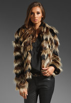 Wish Bracken Faux Fur Coat