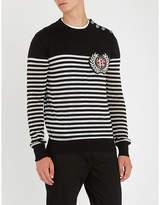 Balmain Metallic striped wool-blend jumper