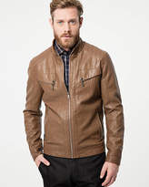 Le Château Tonal Leather-Like Motorcycle Jacket
