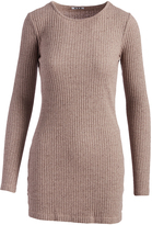 Three Dots Mauve Wood Ribbed Sweater