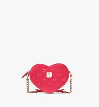 MCM Patricia Heart Crossbody in Diamond Patent Leather