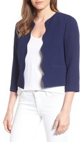 Draper James Women's Crop Scallop Blazer