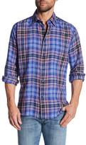 Robert Talbott Plaid Linen Classic Fit Sport Shirt