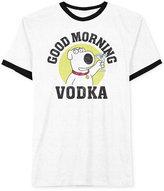 JEM Men's Family Guy Brian Griffin Good Morning Vodka Martini Graphic-Print T-Shirt