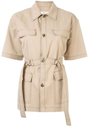 G.V.G.V. Crinkled Trench-Shirt
