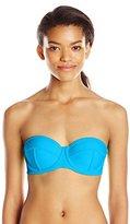 Body Glove Women's Smoothies Fame Demi-Bust Bandeau Bikini Top