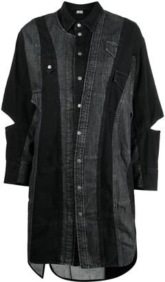 Diesel Patchwork Denim Shirt Dress