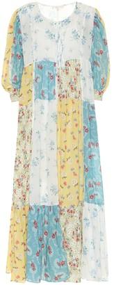 LoveShackFancy Bex floral cotton midi dress