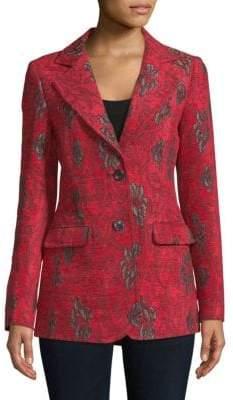 Derek Lam Notch Lapel Printed Jacket