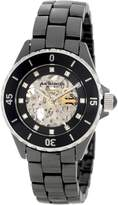 Akribos XXIV Women's AK508BK Ceramic Midsize Automatic Bracelet Watch