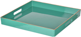 A&B Home Turquoise 13'' Square Decorative Tray