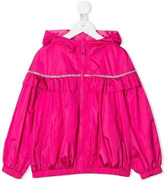 MonnaLisa Crystal-Embellished Ruffled Jacket