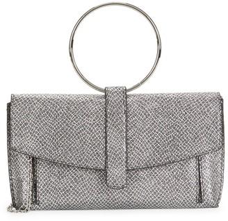 La Regale Faux Snakeskin-Print Crossbody Bag