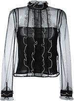 RED Valentino tulle blouse - women - Silk/Polyester - 42