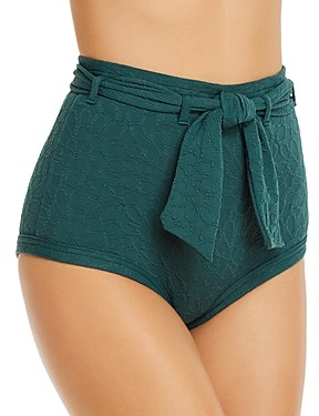Peony Swimwear Belted High-Waist Bikini Bottom