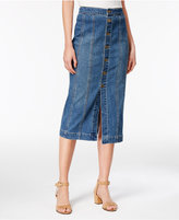 Style&Co. Style & Co Button-Front Denim Skirt, Only at Macy's