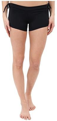 Onzie Side String Shorts (Black) Women's Shorts