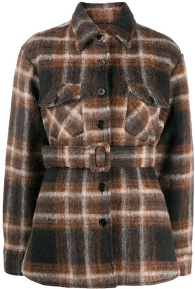Andamane Evita belted shirt jacket