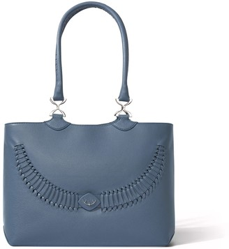 Yiy Wave Working Bag & Tote Personalizable In Storm Blue