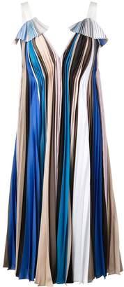 Prabal Gurung Striped Pleated Dress
