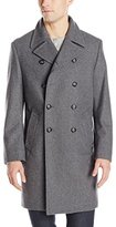 Kenneth Cole New York Men's Egan 39 Inch Double Breasted 8-Button Coat