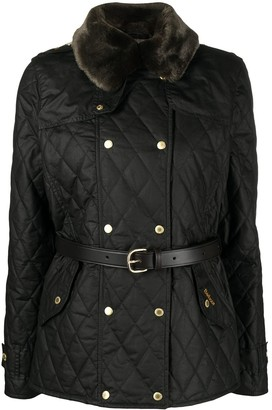 Barbour Elmis waxed quilted jacket