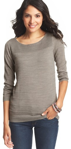 LOFT Petite Popcorn Stitch Sweater