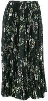 Rochas pleated floral skirt