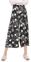 Topshop Women's Mix Floral Wide Leg Trousers