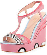 Kate Spade Deanna Car Platform Wedge Sandal, Petunia Pink