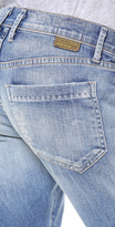 Gold Sign His Boyfriend Cropped Jeans