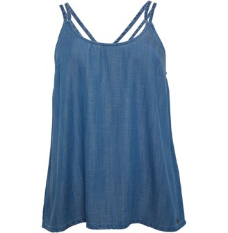 Animal Womens Vest Blue Chambray