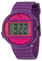 Puma Half Time- S Women's Quartz Watch with Purple Dial Digital Display and Purple Plastic Bracelet PU910892005