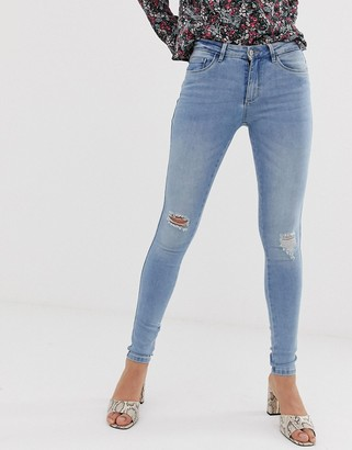 Only Boom distressed skinny jeans