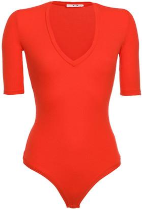 Alix Bedford Ribbed Modal-blend Jersey Thong Bodysuit