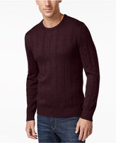 John Ashford Men's Crew-Neck Striped-Texture Sweater, Only At Macy's