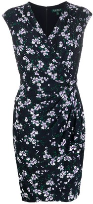 Lauren Ralph Lauren Knot Detail Floral-Print Dress