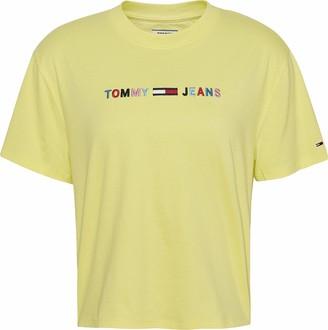 Tommy Jeans Women's TJW Colored Linear Logo TEE T-Shirt