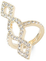 Ivanka Trump 10K Goldplated White Metal Pave Ring