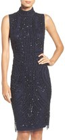 Adrianna Papell Women's Sequin Mesh Sheath Dress