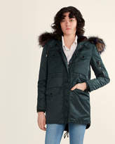 Belle Fare Real Fur Lined Multicolor Down Jacket