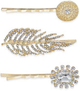 INC International Concepts Gold-Tone 3-Pc. Set Pavé Crystal Hair Pins, Created for Macy's